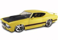 Cars & Co Company 3098182 - Chevelle SS, getunt, rot, 25cm, 1:18