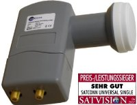SatConn SHQ-102 Twin LNB 2nd Edition 0,2dB HDTV