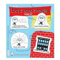 Magnetset BOYS ARE SMELLY - Riechst du's auch??