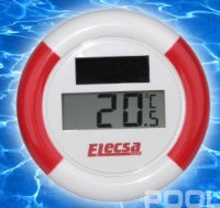 SOLAR Pool Schwimmbad Teich Bade Thermometer Modell ELECSA 3073