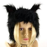 Bye Bye Kitty Mütze MEOW HAT black/black