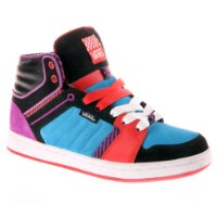 Damen Sneaker Vans Callie Hi wms (stripe) black/purple/red 10.0