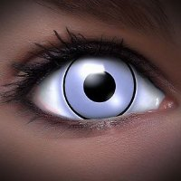 Farbige Kontaktlinsen Crazy Color Fun Contact Lenses 'UV WHITE' Topqualität