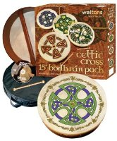 "WALTONS PACK 18"" BROSNA CROSS Bodhran - Gift Set"