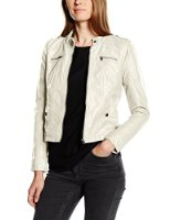 VERO MODA Damen Lederjacke Vmhouston New Short Pu Jacket Dnm Noos