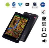 G-Anica 7 Zoll Phablet Smartphone (Unlocked Ohne Vertrag) Tablet PC Dual Core Dual SIM Android 4.2.2 512M RAM 4GB ROM Bluetooth GPS WIFI schwarz